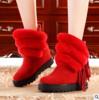 莫蕾蔻蕾兔毛女靴